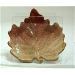 Autumn Settings Stoneware Leaf Dish  by Russ New In Box  Brown