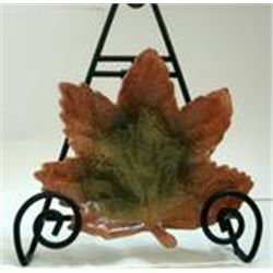 Autumn Settings Stoneware Leaf Dish  by Russ New In Box  Green
