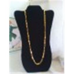 "Vintage 28"" Monet Necklace Goldtone"