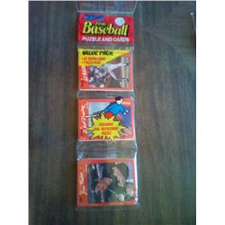 DONRUSS 1990 BASEBALL PUZZLE & CARDS VAL PAK 48 CARDS 9 PUZZLE PIECES