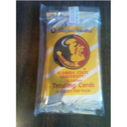 COLLEGIATE COLLECTION SEALED 3 PACKS FLORIDA STATE 8 CARDS PER PACK