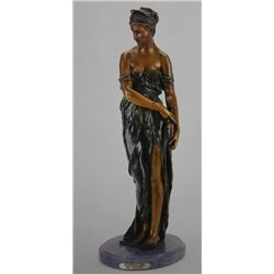 Egyptian Girl  Bronze Sculpture - Colinet