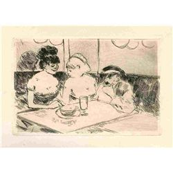"Jean-Louis Forain ""Maison Close"" Original Etching"