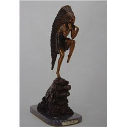 """Dancing Indian Princess"" Bronze Sculpture - Chiparus"