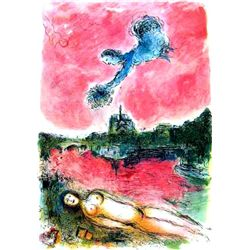 "Marc Chagall ""Vue Of Notre Dame"""