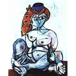 "Picasso ""Nude Lady With Scarf Over Hat"""