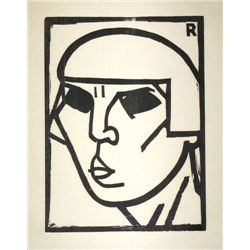 "Andre Rouveyre ""Kopf"" Original Woodcut"