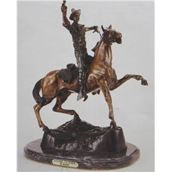 """Soldier On Horse"" Bronze Sculpture - Kauba"