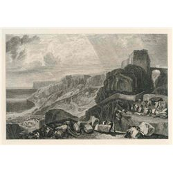 """Turner """"Bow-And-Arrow Castle"""" Engraving"""