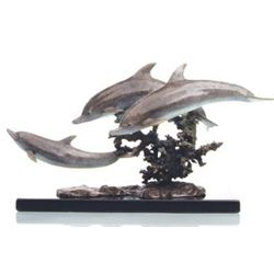 Dolphins Bronze Sculpture
