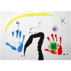 Miro Original Lithograph (Two Hands) 1971
