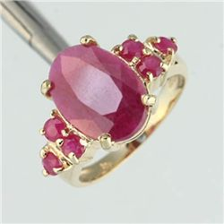 4.0ctw Ruby Ring 10ky