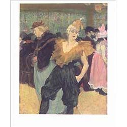 "Toulouse Lautrec ""The Clown Cha-U-Kao"""
