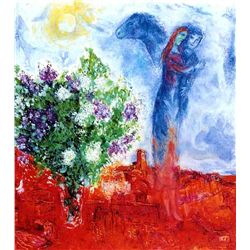 "Marc Chagall ""Couple Above St. Paul"""