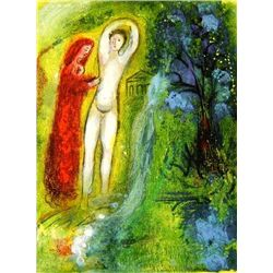 "Marc Chagall ""Daphne & Chloe Beside Fountain"""