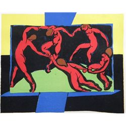 "Antique Matisse Lithograph ""La Danse"""
