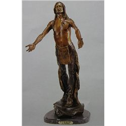 """Pray To The Great Spirits"" Bronze Sculpture - Humphries"