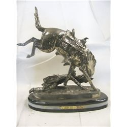 22% Real Silver  Bronco Twister  Sculpture