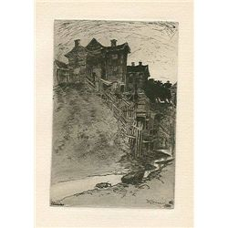 Joseph Pennell Original Etching