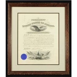 President William McKinley Signed Army Commission