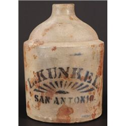 L. Kunkel San Antonio Texas Advertising Jug