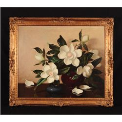 A.D. Greer Still Life Flowers Oil Painting