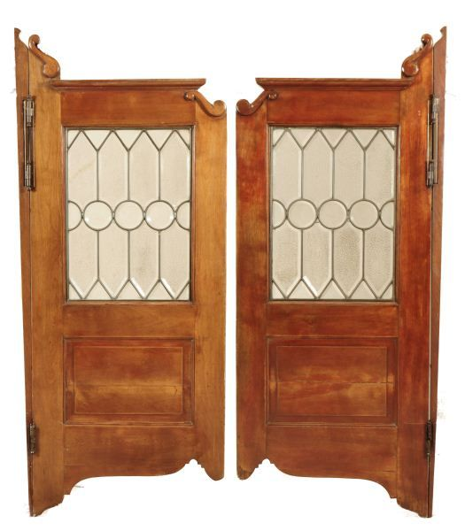 - Antique Saloon Doors With Leaded Glass