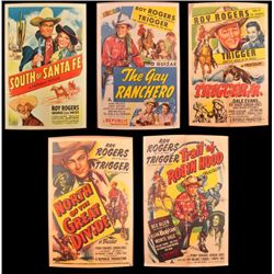Collection of 5 Roy Rogers Movie Posters
