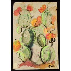 Josephine Mahaffey Cactus Watercolor Painting