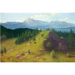 R.D. Enright Mountain Landscape Oil On Canvas