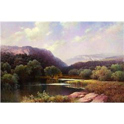 A.D. Greer Willow Bend Oil On Canvas