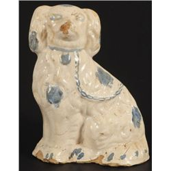 Texas Stoneware Dog Doorstop