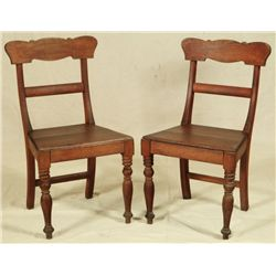 Pair of Early Texas Chairs