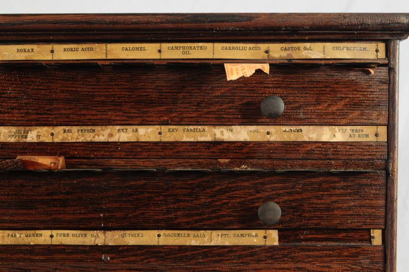 ... Image 5 : Antique Pharmacy Label Dispensing Cabinet ... - Antique Pharmacy Label Dispensing Cabinet
