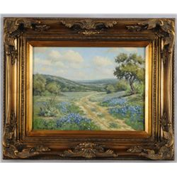 Eric Harrison Bluebonnets Oil Painting