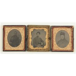 3 Civil War Soldiers Tintype Photos