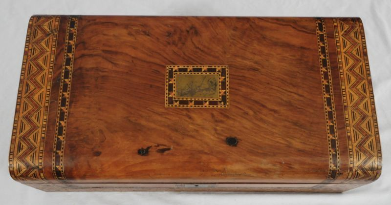 ... Image 3 : Antique Inlaid Portable Writing Desk ... - Antique Inlaid Portable Writing Desk