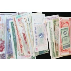 Foreign Bank Note, Various Dates & Denominations, Lot of 100 From 100 Different Countries, Crisp & U