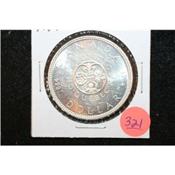 1964 Canada $1 Foreign Coin; Charlottetown Quebec