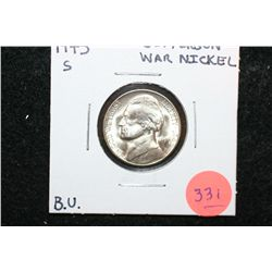 1945-S Jefferson War Nickel, BU