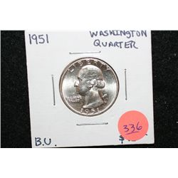 1951 Washington Quarter, BU