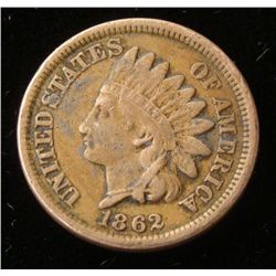 Hi Grade 1862 Indian Cent -Full Liberty, Good Detail