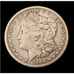 1890-CC Silver Morgan Dollar -Nice Coin