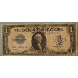 Large 1923 U.S. One Dollar Bill Note