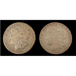 1881 & 1881-O Morgan Silver Dollars