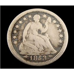 1853-O Seated Half Dime With Arrows, Hi-Grade