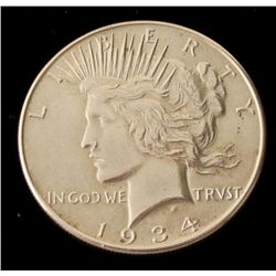 Hi-Grade 1934 Silver Peace Dollar -Key Coin in Series