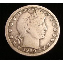 1909 Barber Half Dollar -Nice Coin