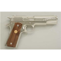 Colt Government Model Series 70 Mark IV .45  ACP cal;. semi-automatic pistol, factory  nickel plated