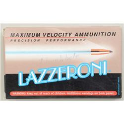One box of 20 Lazzeroni precision performance  7.82 (.308) Warbird caliber cartridges;  3,372 FPS wi